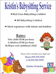 babysitting flyer template word google search kenzie babysitting flyer template word google search