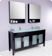 fresca infinito double sink bathroom vanity w tempered glass countertop and sink