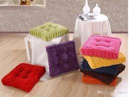 Sunnyrain Thick Corduroy Elastic Chair Cushions For Kitchen Chair