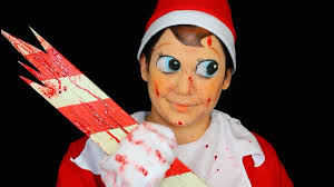 evil elf on the shelf makeup tutorial