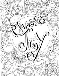 Complex Joy Coloring Page T4788 Charming Choose Joy Coloring Page