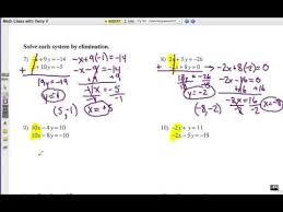 Solving systems of equations using substitution. Solve Systems Of Equations Elimination Method Youtube