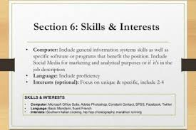 resume skills and interests examples resume interests examples resume - Resume  Skills And Interests Examples
