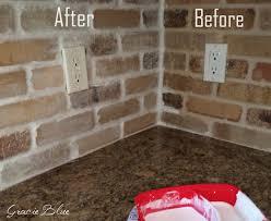How To Whitewash Brick Diy Whitewashed Brick Backsplash