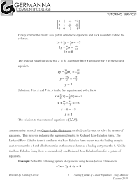 solving systems of linear equations using matrices summer 014 x 7 4 8 3 x 14 3 3