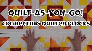 How to Connect Quilted Blocks - Beginner Quilt As You Go Tutorial ... & How to Connect Quilted Blocks - Beginner Quilt As You Go Tutorial with Leah  Day - YouTube Adamdwight.com