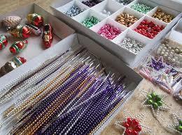 Traditioneller Weihnachtsschmuck Glasperlen Aus Poniklá