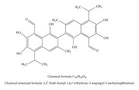 what is structural formula chemical structure formula and structural formula of gossypol