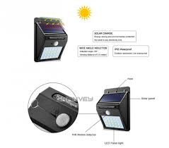 2w garden solar powered led wall light solar wall light with motion sensor ip65