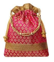image is loading rich brocade potli bag indian ethnic drawstring handbag