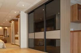 bronze mirrors and champagne avola sliding doors