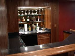 Decorating Inspiring Diy Home Bar Idea With Corner Nook Also How - Home bar cabinets design