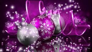 Purple christmas ornaments ...