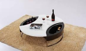 contemporary round coffee table with