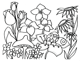 Coloring Page Spring Flowers Preschool Coloring Pages Spring
