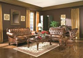 brown and beige living room living ideas living room walls brown leather furniture yellow curtains brown