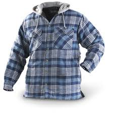 Canyon Guide® Hooded Flannel Jacket - 153747, Shirts at ... & Canyon Guide Hooded Flannel Jacket, Blue / Plaid Adamdwight.com
