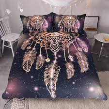 Dream Catcher Twin Bedding Dreamcatcher PurpleBlack Bedding Set 100pcs wolvestuff 2