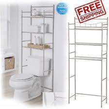 towel storage rack. 3 Shelf Over The Toilet Bathroom Space Saver Metal Towel Storage Rack Organizer | EBay