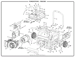homelite ps9c3501 powerstroke 3 500 watt generator parts diagram general assembly