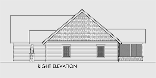 One Story House Plans  House Plans With Bonus Room  House PlansHouse rear elevation view for  fb One story house plans  house plans