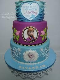 Deliciosa tarta para fiesta tem tica Frozen. Frozen pastel.