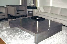 handmade square shapes concrete coffee table stunning clear look preety creation premium quality inexpensive