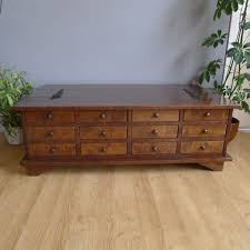 laura ashley garrat chestnut 12 drawer coffee table