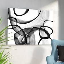>black and white wall art wayfair  abstract poetry in black and white 91 framed graphic art