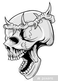 Nálepka Lebka A Koruna Trnů Pixerstick