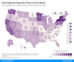 How High Are Cigarette Taxes In Your State 2019 Rankings
