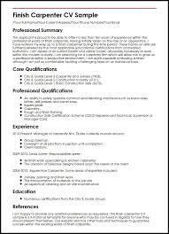 Carpenter Resume Template Extraordinary Sample Resume For Carpenter Sample Resume For Carpenter