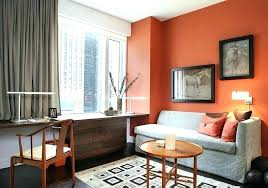 curtains with orange walls gray what color match