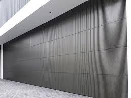 doric garage door anthra zinc