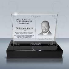 pastor birthday gift crystal celebration plaque b1023 design a happy 50th birthday