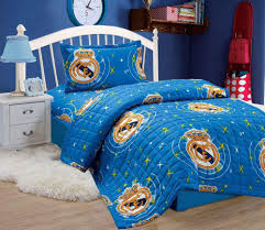 compressed comforter 3 piece set for kids single size by moon real madrid c f