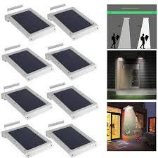 8pcs 46led solar power motion sensor outdoor waterproof garden security lamp vp