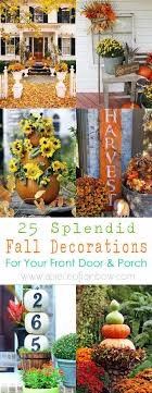 25 Splendid Front Door DIY Fall Decorations - A Piece Of Rainbow