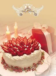 Yellow Simple Aesthetic Birthday Cake Dessert Food Background