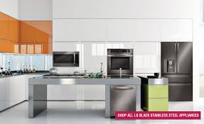 stainless steel appliances.  Stainless The LG Black Stainless Steel Series Bold Luxury Meets Timeless Style  Throughout Appliances A