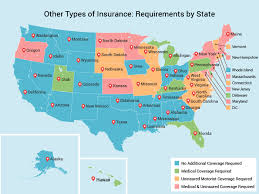 strictest and most lenient states for car insurance coverage map 02