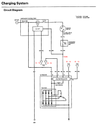 alternator not charging honda tech honda charging system wiring diagram