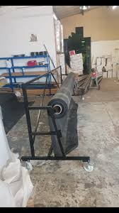 1 roll carpet grass roofing stand on castors 4m