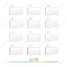 Simple Calendar Template 2015 Calendar 2015 Vector Design Template Simple Blank Calendar Illustration