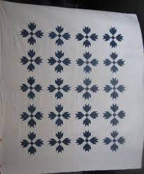Amish Flower Garden Quilt at ://.antiquequilts.com ... & Marie Miller Antique Quilts. Antique and vintage blue and white quilts and  quilt tops for sale, including indigo, cornflower blue and cadet blue Adamdwight.com