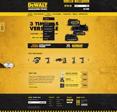 dewalt guaranteed tough. these became the trademarks of dewalt name. yellow/black color scheme is a trademark for power tools and accessories. dewalt guaranteed tough m