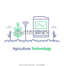 Stem Stock Chart Agriculture Technology Smart Farming Plant Stem Stock Vector