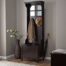 Espresso Coat Rack Extraordinary Small Entryway Hall Tree Coat Rack With Storage Bench Espresso Wood