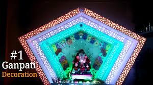 ganpati decoration home made diy decoration ideas thermacol