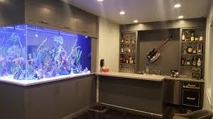 aquarium office. Bar Aquarium Custom Built In NYC Office